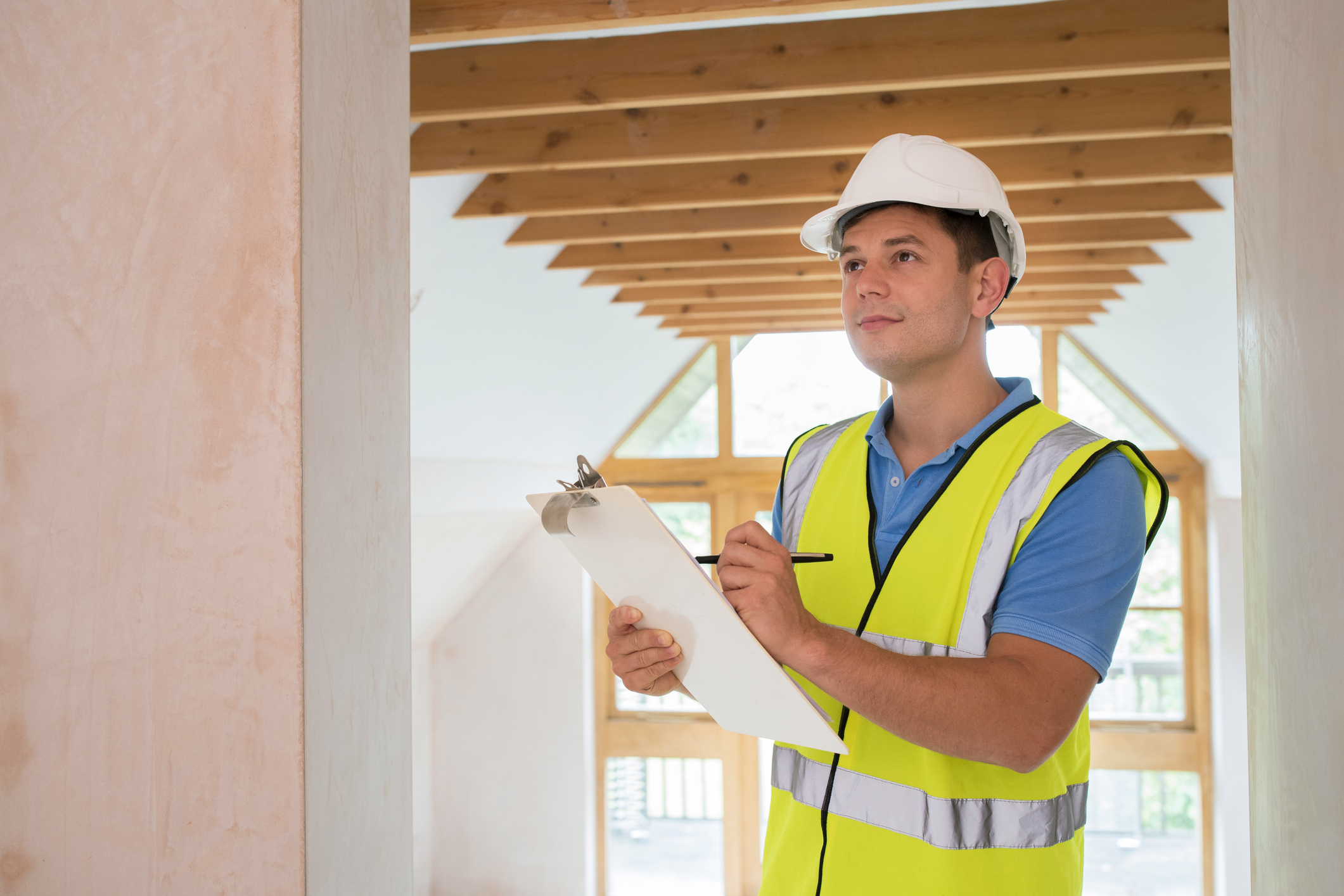 Building Inspector checking a New Property